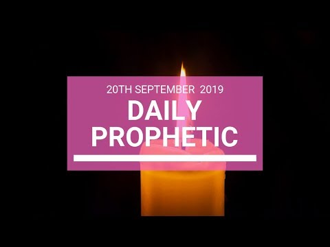 Daily Prophetic 20 September 2019   Word 4