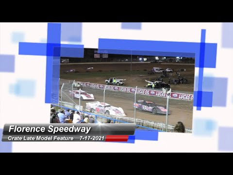Florence Speedway - Crate Late Model Feature - 7/17/2021 - dirt track racing video image