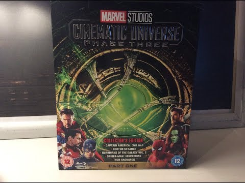 Marvel Cinematic Phase Three, Part One Blu Ray boxset - 2018 - UCFhUvBbgfNw2sUJoT5cbnZA