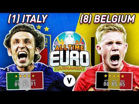 All-Time Italy XI vs All-Time Belgium XI | All-Time EURO Tournament Game 1
