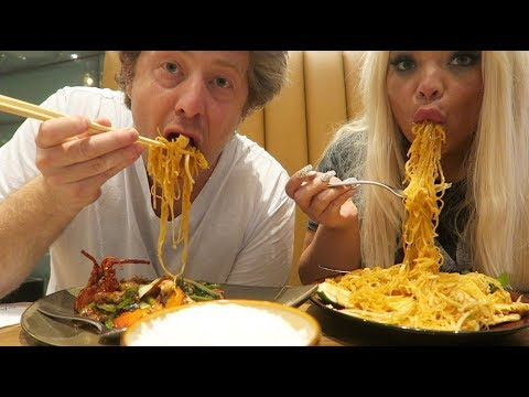 BEST NOODLES IN VEGAS MUKBANG! W/ MY BOYFRIEND | EPIC CHINESE FOOD EATING SHOW - UCF2oW5-MO8dB6ul9WH9xi0A