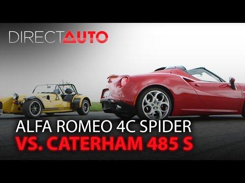 ALFA ROMEO 4C SPIDER vs. CATERHAM 485 S : Duel des poids plumes - UCFX87MnBFP5hh7a6_bKaJTw