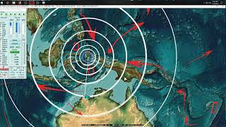 7/14/2019 -- TWO Large Quakes strike -- M7.3 West Pacific Indonesia + Australia M6.7