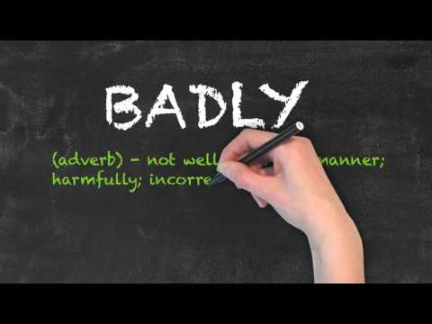 Bad vs Badly - English Grammar - Teaching Tips