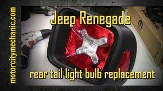 Smontaggio faro posteriore Jeep Renegade