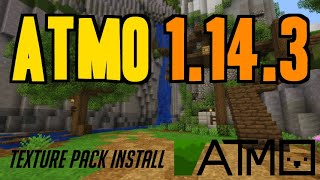How to get Texture Pack in Minecraft 1.14.3 - download & install Atmo 1.14.3 resource pack