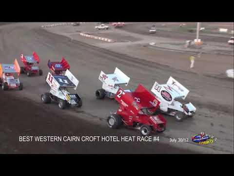 Sprintcar TONY STEWART July 30/12 Races @ Ohsweken Speedway FLASHBACK - dirt track racing video image