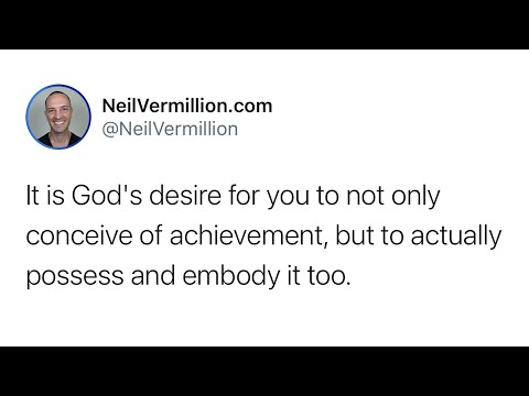 The Conception Of Achievement - Daily Prophetic Word