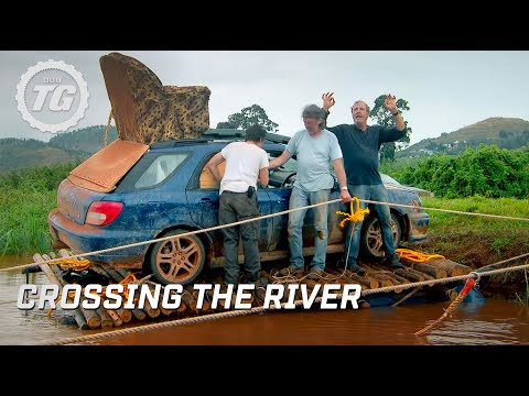 Crossing the river | Top Gear Africa Special | Series 19 | BBC - UCjOl2AUblVmg2rA_cRgZkFg
