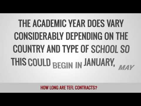 video on the avarage terms of TEFL contracts