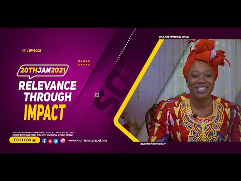 Dr Becky Paul-Enenche - SEEDS OF DESTINY  WEDNESDAY JANUARY 20, 2021