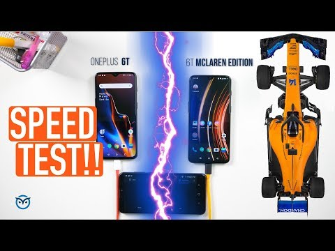 OnePlus 6T Vs OnePlus 6T McLaren Edition: Battery Charge Test | Speed Test! - UCKO4P-n6MXW-TbGxOpYROSQ