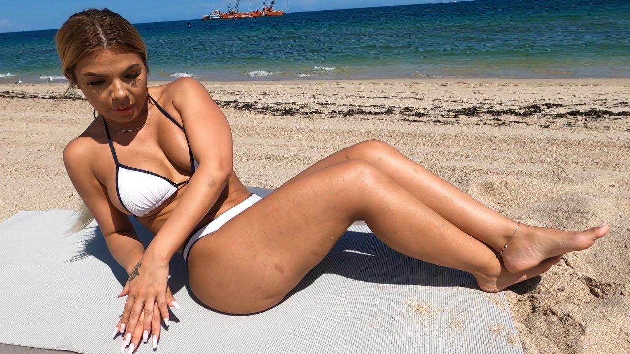 Bikini Babes Butt, Abs, and Legs Workout at Beach!
