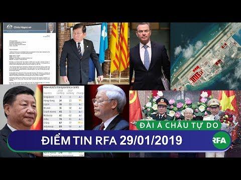 Điểm tin RFA tối 29/01/2019 | Bộ trưởng Quốc phòng Úc: Bắc Kinh gây ra nỗi lo lắng tại Biển Đông