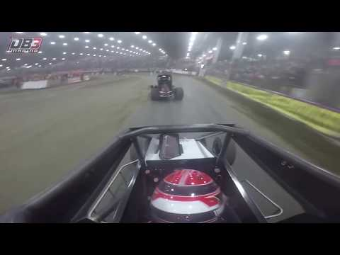 Ride along with ONBOARD footage with Tyler Thomas during Hard Rock Casino Qualifying Night A-Main at Chili Bowl Nationals on 1/10/2018. #GoPro - dirt track racing video image