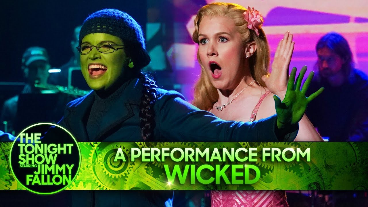 The Cast of Wicked: Popular/The Wizard and I Medley | The Tonight Show Starring Jimmy Fallon