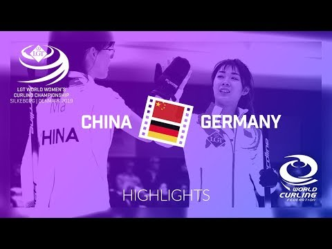 HIGHLIGHTS: China v Germany - round robin - LGT World Women's Curling Championship 2019