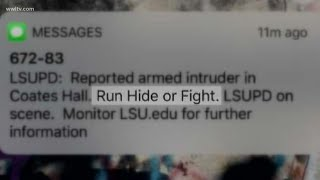 'Run, Hide, Fight' warning on LSU campus familiar to some students
