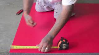 How to Cut Roll Out Mats