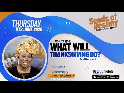 Dr Becky Paul-Enenche - SEEDS OF DESTINY  THURSDAY JUNE 11, 2020