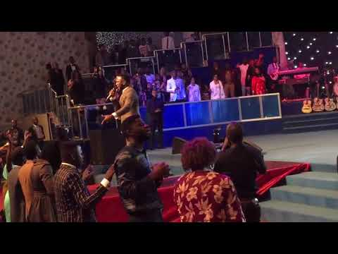 chris shalom ministers in an unusual anointing