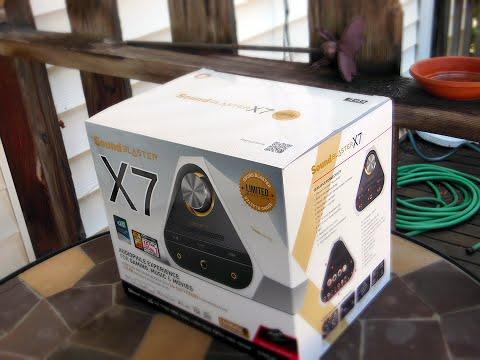 Creative's SoundBlaster X7: An external Amp, DAC, and Headphone Amp - UCStdwNHQLNeY4FPFiupz1lA