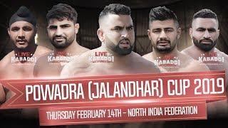? Live Powadra (Jalandhar) North India Kabaddi Federation Cup| LIVE KABADDI
