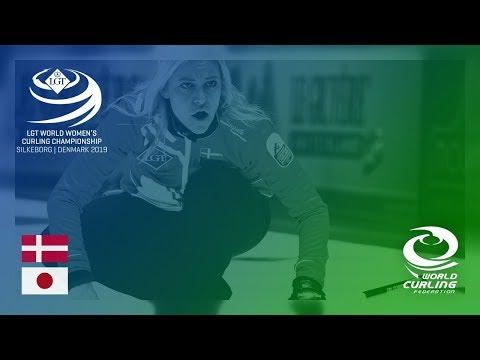 Denmark v Japan - round robin - LGT World Women's Curling Championships 2019