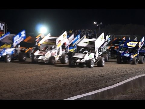 World of Outlaws Craftsman Sprint Car Series 2017 season opening race at Volusia Speedway Park in Barberville, FL on Friday, February 17, 2017, highlights of practice, heat races, and qualifying on opening night - dirt track racing video image