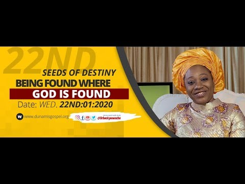 Dr Becky Paul-Enenche - SEEDS OF DESTINY - WEDNESDAY 22ND JANUARY 2020