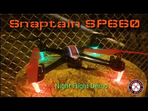 Snaptain SP660 Night Flight Demo - UCNUx9bQyEI0k6CQpo4TaNAw