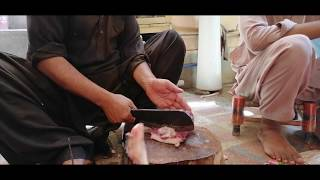 AMAZING FAST CUTTING SKILLS |  GOAT MEAT CUTTING | STREET FOOD OF PAKISTAN | MUTTON MEAT CUTTING