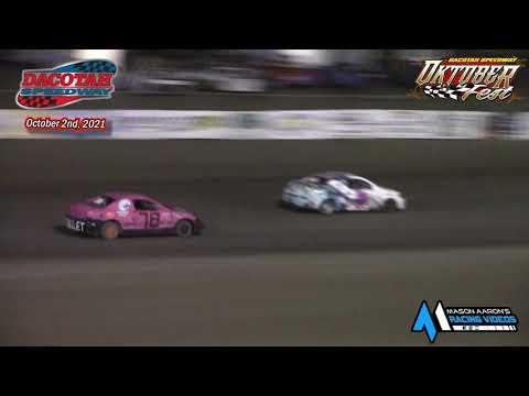 Dacotah Speedway IMCA Sport Compact A -Main (Oktoberfest) (10/2/21) - dirt track racing video image