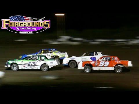 Fairgrounds Speedway IMCA Stock Car Main Event 8/13/21 - dirt track racing video image