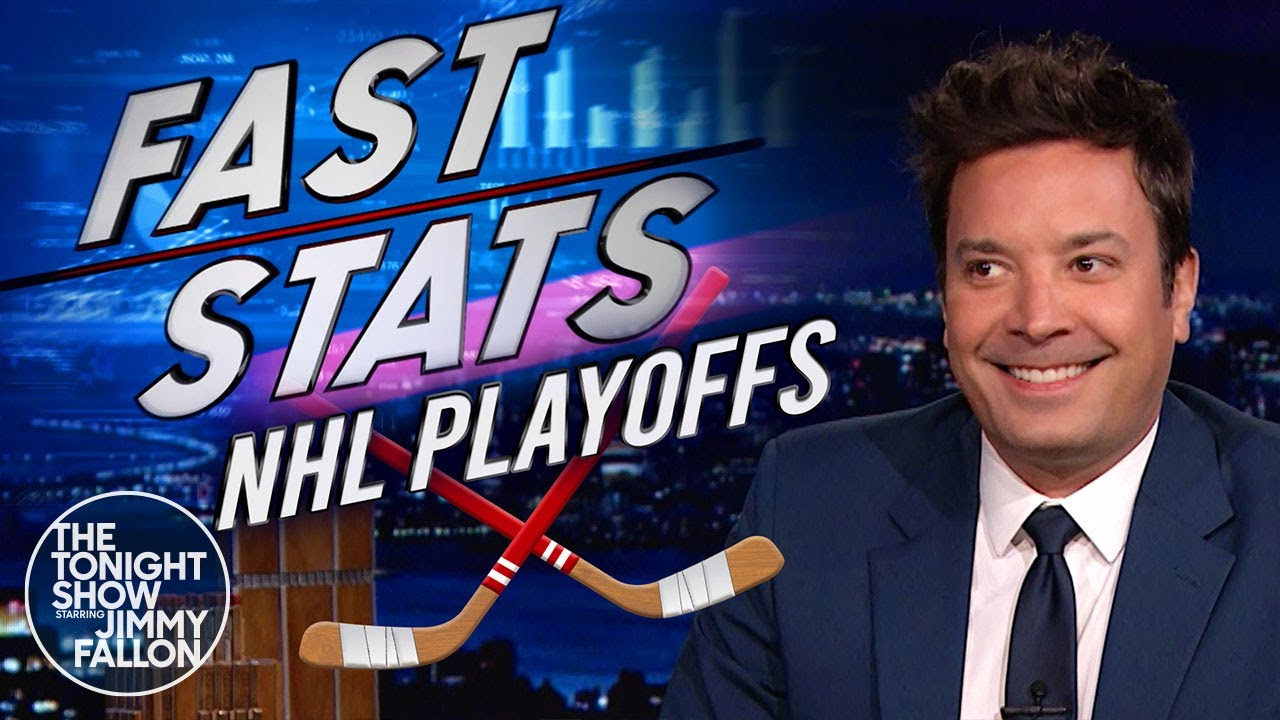 Fast Stats for NHL Playoffs: Cole Caufield, Jon Merrill and Victor Hedman | The Tonight Show