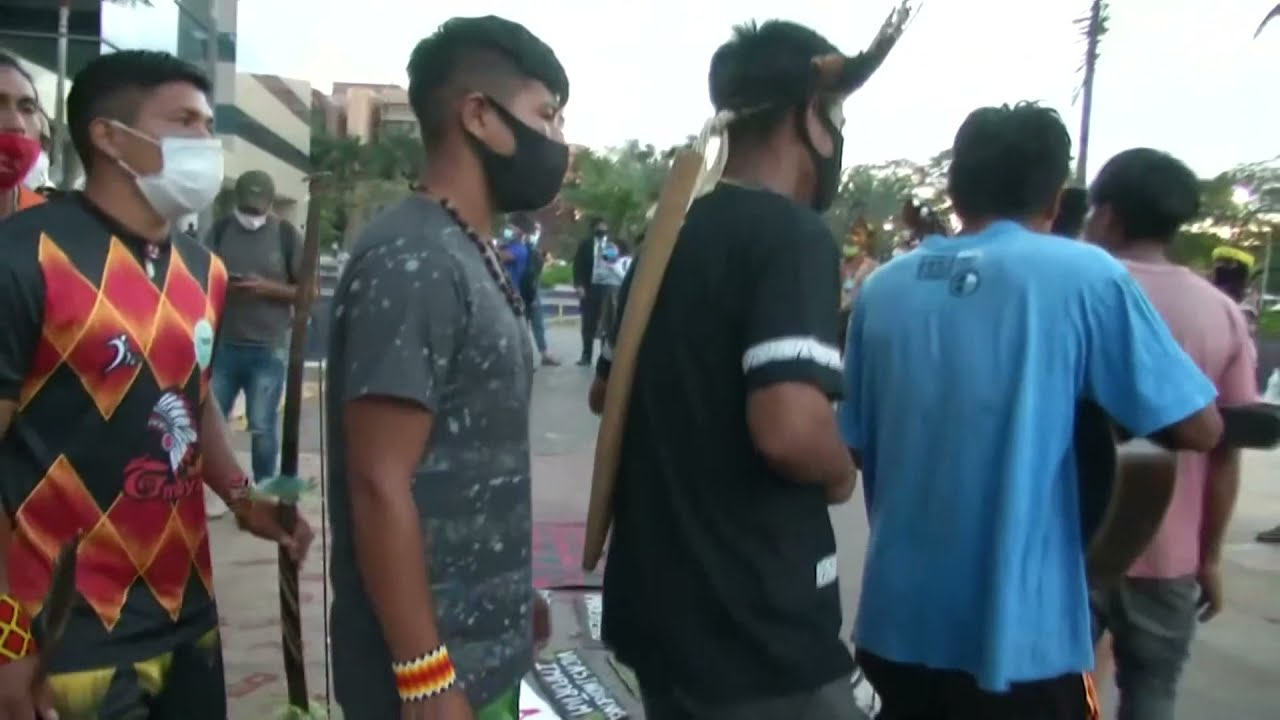 LIVE: Indigenous groups protest outside Brazil's supreme court