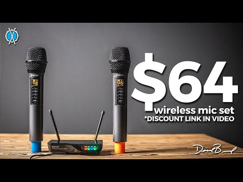$64 Wireless Mic Set // Review of the Bietrun UHF Wireless mic set (Discount in video)