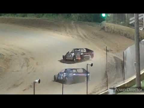 IMCA Modified A-Main - Crystal Motor Speedway - 8-7-2021 - dirt track racing video image
