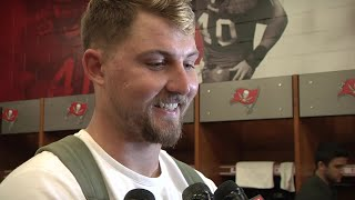 TE Tanner Hudson following Friday's preseason win over the Miami Dolphins
