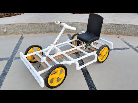 How to Make a Go kart / Electric car using PVC pipe at Home - UCuHheGtxHlSrumRzHW2GnuQ
