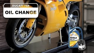 Sostituzione olio motore Ducati 748