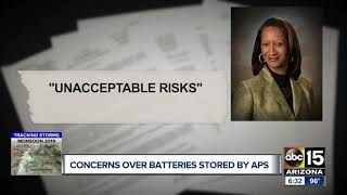 Corporation commissioner questions safety of APS' lithium ion batteries