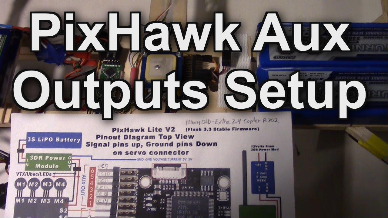Pixhawk Aux Outputs Setup For 14 Channels Taranis X9d X8r Receiver M1 M2 Wiring Diagram