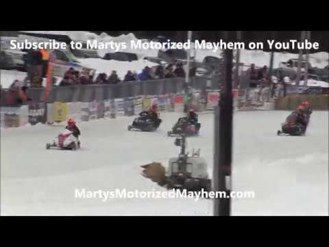 Semi Pro Champ Final from Bonnechere Cup January 16, 2020.  Check out Bonnechere Cup: http://www.bonnecherecup.ca Check out Ontario Snowmobile Oval Racers: https://www.osorlife.ca/ Check out my site: http://www.martysmotorizedmayhem.com - dirt track racing video image