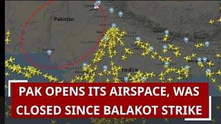 Pak Opens Its Airspace, Was Closed Since Balakot Strike: Report