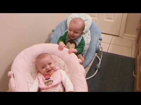 Cute Twins Baby Playing and Laughing Together   Twins Baby Video