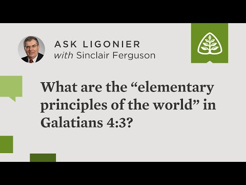 What are the elementary principles of the world in Galatians 4:3?