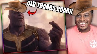 I GOT THE INFINITY STONES IN THE BACK! | Old Thanos Road Official Music Video Reaction!