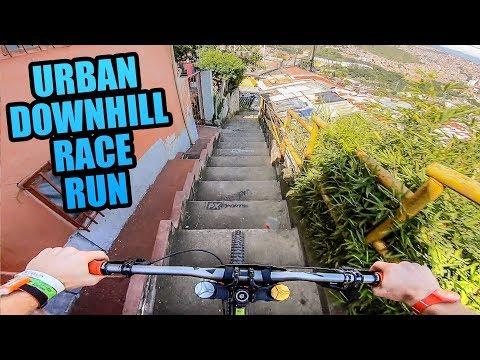 CRAZY URBAN MTB DOWNHILL TRACK - FULL RACE RUN! - UC-WMwOzgFdvvGVLB1EZ-n-w