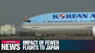 Japan's provincial tour businesses will be affected by reduction in flights from South Korea...